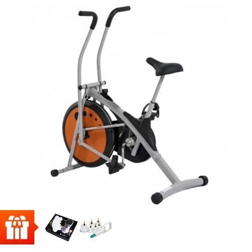 [5TH T3]AIR BIKE - Xe đạp tập thể hình MK77 + Máy massage 4 miếng dán, Bộ giác hơi 6 cốc