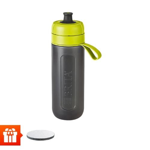 [EC]-BRITA-  Bình lọc nước fill &go Active Lime 600ml (kèm Micro Disc)