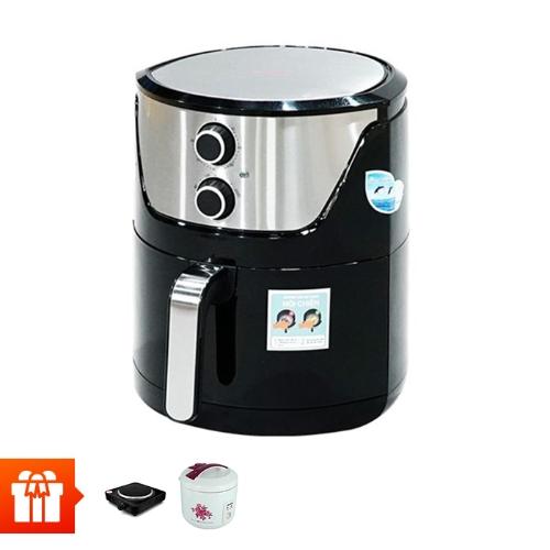 PERFECT - Nồi chiên không dùng dầu PF-625 (6L)+Nồi cơm điện Asia 1.8L+ Bếp điện đơn PF-HP789-1