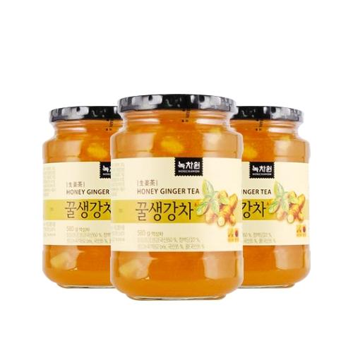 [EC]-NOKCHAWON-HONEY GINGER TEA- Combo 3 hũ trà gừng mật ong 580g/hũ