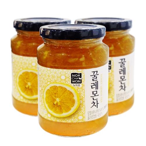 [EC]-NOKCHAWON-HONEY LEMON TEA- combo 3 hũ trà chanh mật ong 550g/hũ