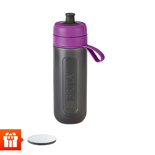 [EC]-BRITA-  Bình lọc nước fill &go Active Purple 600ml (kèm Micro Disc)