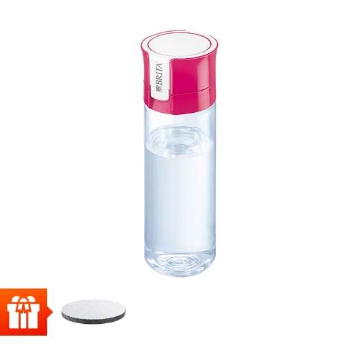 [EC]-BRITA-  Bình lọc nước fill &go Vital Pink 600ml (kèm Micro Disc)