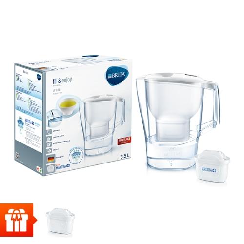 [EC]-BRITA-  Bình lọc nước fill & enjoy Aluna XL White 3.5L (kèm Maxtra Plus)+ 1 lõi lọc