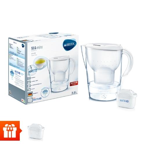 [EC]-BRITA-  Bình lọc nước fill & enjoy Marella XL White 3.5L(kèm Maxtra Plus)+ 1 lõi lọc