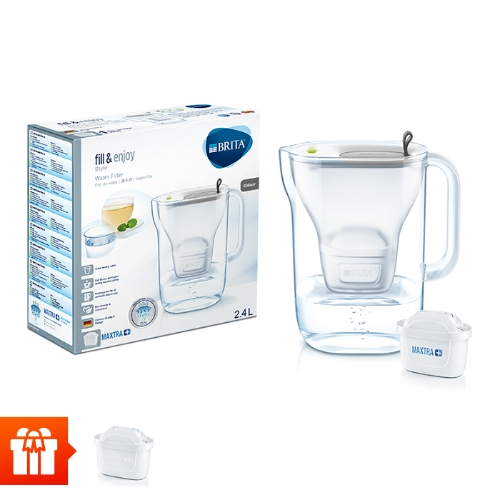[EC]-BRITA-  Bình lọc nước fill & enjoy Style Grey 2.4L (kèm Maxtra Plus)+ 1 lõi lọc