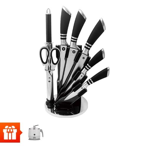 [Mishio]-Bộ dao 8 món bằng thép không gỉ MK88 + Ca nấu đa năng Mishio MK214