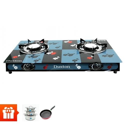 [RS]-Bếp Gas đôi hồng ngoại Duxton DG-LM009 (Hoa văn ô vuông) + Bộ 3 Nồi Duxton DG-03MD + 1 Chảo DG-C20