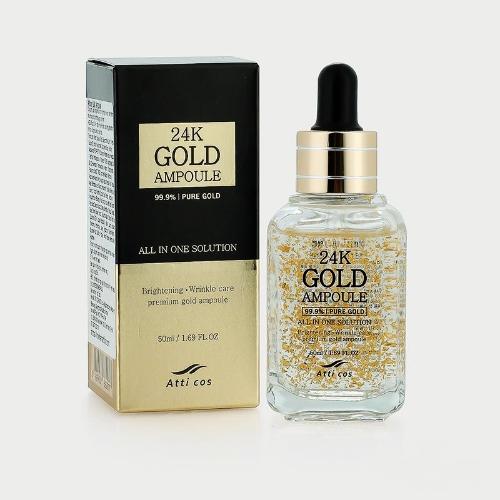 [EC]-ATTICOS- Kem dưỡng da dạng tinh chất vàng 24K Gold Ampoule - 50ml