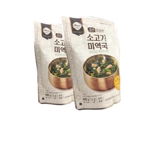SHINSEGAE Combo 2 gói canh rong biển thịt bò (480g) tặng 1 gói canh thịt bò cay