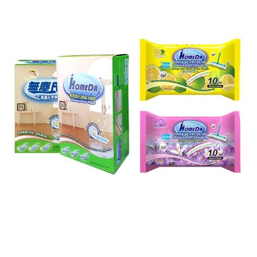 [EC]-COMBO 2 Bông lau nhung dài tĩnh điện iHomeDa ( 6 bông lau) + 1 Khăn giấy ướt lau sàn kháng khuẩn tiện dụng