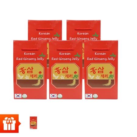 [EC]-SANTE365-Combo 5 hộp kẹo mềm vị hồng sâm (200g/hộp giấy)+ 1 hộp cùng loại
