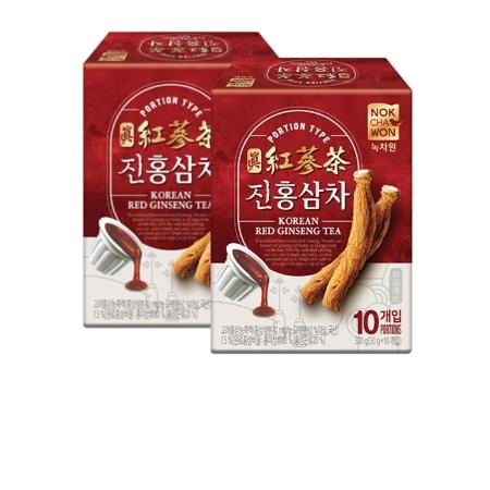 [EC]- NOKCHAWON-Combo 2 hộp Trà Hồng Sâm Hàn Quốc cô đặc 10 hũ/hộp