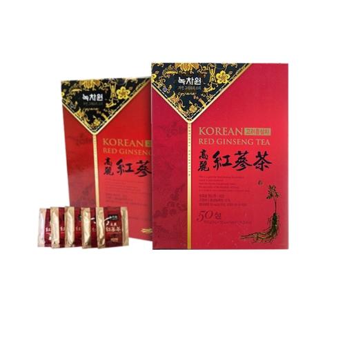 NOKCHAWON TRÀ HỒNG SÂM HÀN QUỐC - KOREAN RED GINSENG TEA tặng Ly sứ/túi canvas