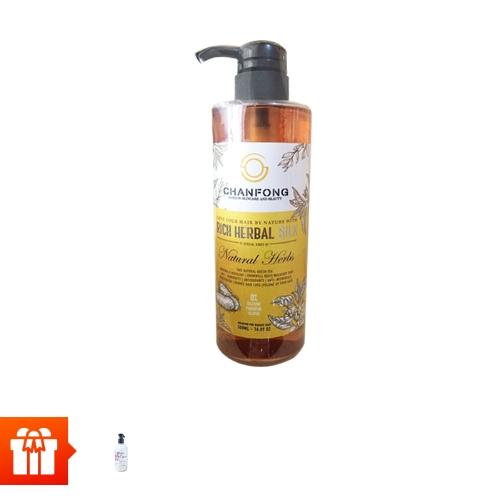 [EC]-Dầu gội CHANFONG - Rich Herbal Silk 500ml + Nước rửa tay làm sạch da Bloom hiệu Chanfong 300ml (Thái lan)