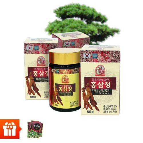 Combo 3 hộp Thực phẩm bảo vệ sức khỏe PREMIUM FINE RED GINSENG EXTRACT (250g/ hộp) + 2 gói kẹo hồng sâm (200g/ gói)
