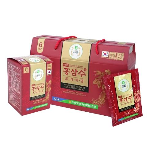 [Mid +OB]Combo 120 gói nước hồng sâm cao cấp Nong-hyup premium red ginseng (50ml/ gói)