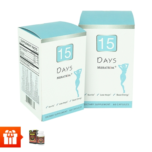 Combo 2 hộp TPBVSK viên uống giảm cân 15 Days (60 viên/hộp)+ 1hộp đông trùng hạ thảo Wellness Nutrition (30 viên/ hộp)