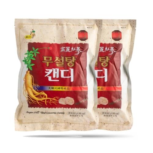 [EC]-Combo 2 túi Kẹo hồng sâm không đường Sugar Free Red Ginseng (500g*2)