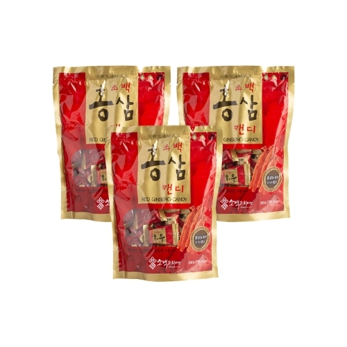 [EC]-Combo 3 túi Kẹo vị hồng sâm Red Ginseng Candy (200g*3)