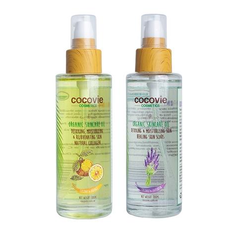 [EC]-COCOVIE- Combo 2 chai dầu dừa cam và oải hương 100ml