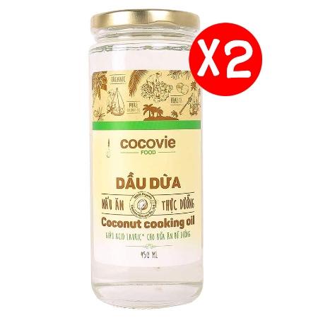 [EC]-COCOVIE -Combo 2 Dầu dừa thực dưỡng 450ml