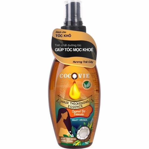 COCOVIE-Tinh chất dưỡng tóc dày khỏe hương trái cây từ dừa organic 100ml
