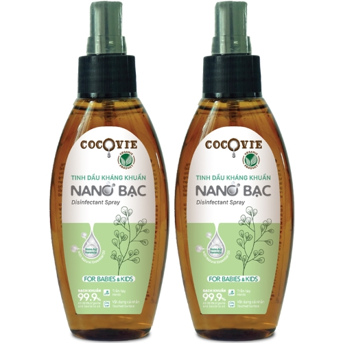 [EC]-COCOVIE- Combo 2 Tinh dầu kháng khuẩn nano bạc for babies & kids