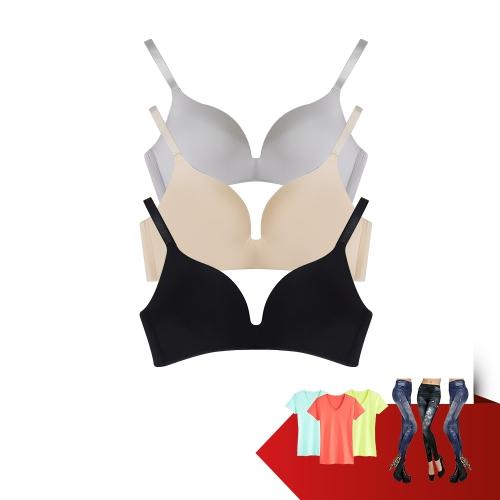 AIRY - Bộ 3 áo ngực không gọng + 3 quần legging, 3 áo thun
