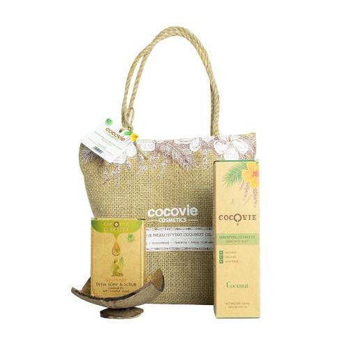 [EC]-COCOVIE-Bộ sản phẩm dưỡng thể dừa hàng ngày