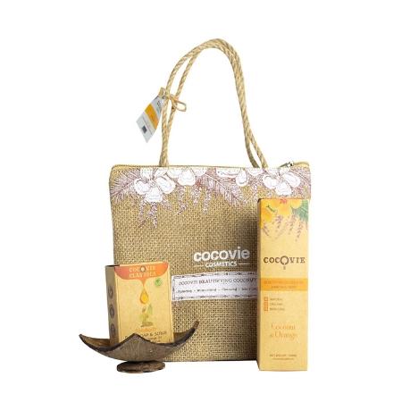 [EC]-COCOVIE-Bộ sản phẩm dưỡng thể dừa cam hàng ngày