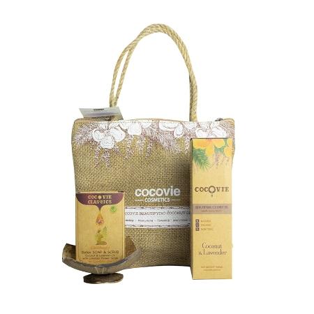 [EC]-COCOVIE-Bộ sản phẩm dưỡng thể dừa oải hương hàng ngày