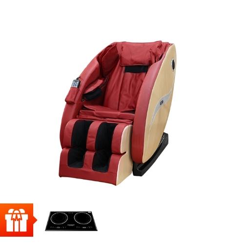 PGM- BUHEUNG- Ghế massage 4D cao cấp MK5100 + Bếp đôi điện từ hồng ngoại SUNHOUSE SHB8609