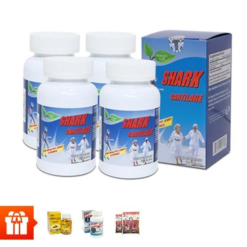 [Family]Combo 4 hộp sụn cá mập Shark Cartilage ( 100 viên/ hộp)+ 1 hộp dầu cá Omega 3 6 9(30 viên)  + 1 hộp  Canxi Green Living(60 viên) + 2 gói kẹo hồng sâm Hàn Quốc (200gr/gói)