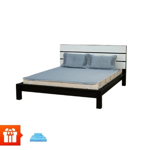 [Family] ASC - Chiếu cao su 1m8 + 2 Vỏ gối cao su 50x70cm + Bộ drap giường 4 món (ngẫu nhiên)