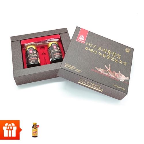 [58P] Combo 2 hũ TPBS chiết xuất hồng sâm 6 năm tuổi nhung hươu (250g/ hũ ) + 10 chai nước uống vitamin C Hàn Quốc