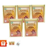 KOLIGIN F - Bộ 5 hộp sâm viên (50 v/hộp) + 2 hộp cùng loại + 1 túi vải