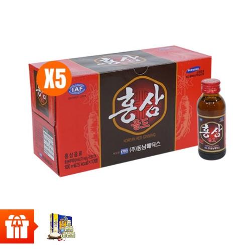 Combo 50 chai  nước uống hồng  sâm Hàn Quốc  (100ml/chai) + 1 Hộp Tổ Yến  Chưng Đường  Phèn SCNEST  15%