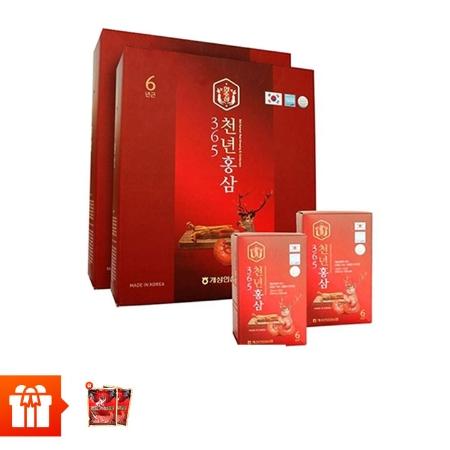 HANSUSAM - Combo 120 gói nước chiết hồng sâm nhung hươu 365 HANSUSAM ( 70ml x 120 gói) + 2 kẹo sâm ( 200g/gói)