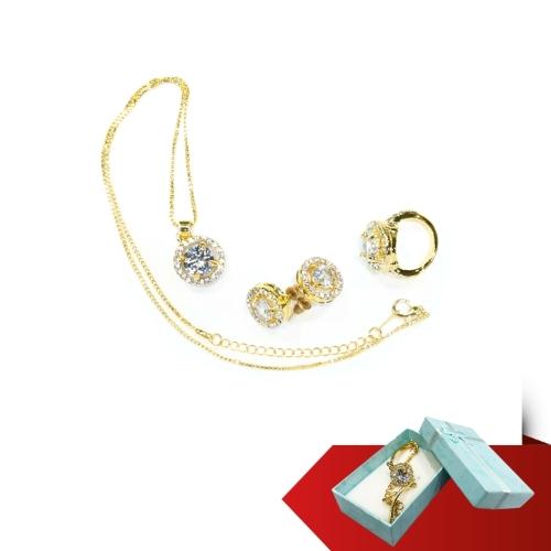 DORA - Bộ trang sức mạ vàng Hoa Nắng + lắc tay mạ vàng (2019)