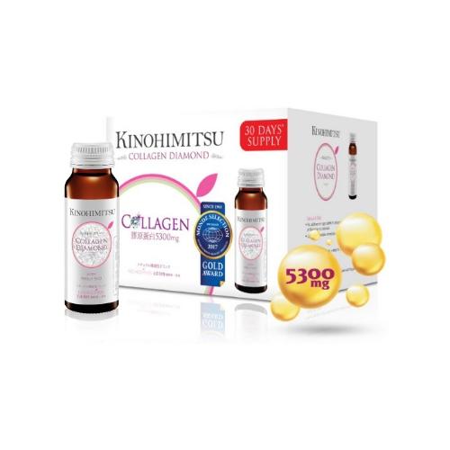 Kinohimitsu - Nước uống cải thiện đàn hồi da Kinohimitsu Collagen Diamond (Hộp 16 chai 50ml)