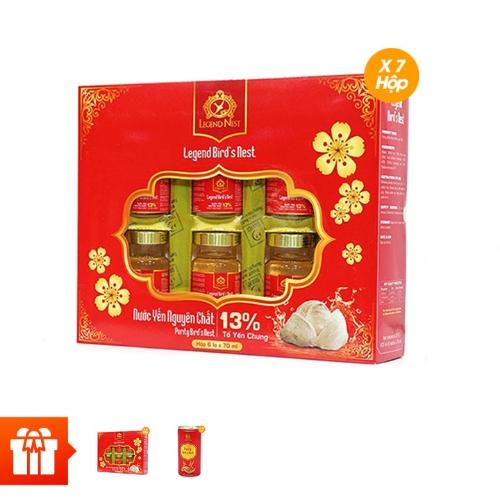 [NORMAL]Legend Nest: Combo 7 hộp yến đường phèn 13% + 3 hộp cùng loại + 10 lon yến
