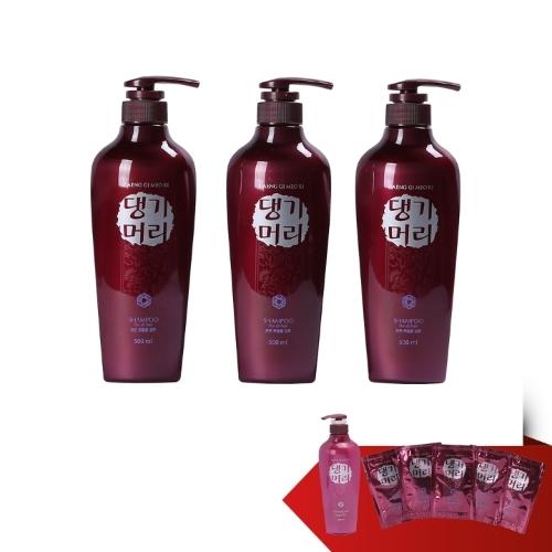 3 chai dầu gội đầu hiệu Daeng Gi Meo Ri, dung tích 500ml + 1 chai dầu xả tóc hiệu Daeng Gi Meo Ri, dung tích 500ml + 5 gói dầu gội đầu hiệu Daeng Gi Meo Ri, dung tích 7 ml