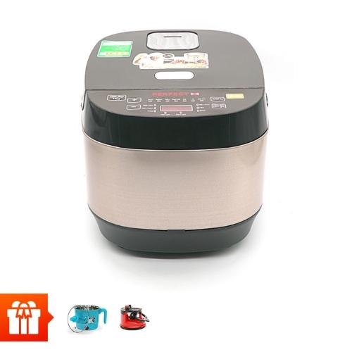 [20.10]PERFECT- Nồi cơm điện tử PF-C308 + Nồi nấu mì mini cầm tay Perfect MS-D01