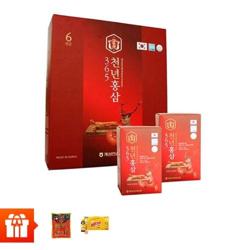 [20/10] Combo 120 gói nước chiết hồng sâm nhung hươu 365 HANSUSAM ( 70ml x 120 gói) + 1 gói kẹo hồng sâm Hàn Quốc 200g+ 10 chai nước uống Vitamin C