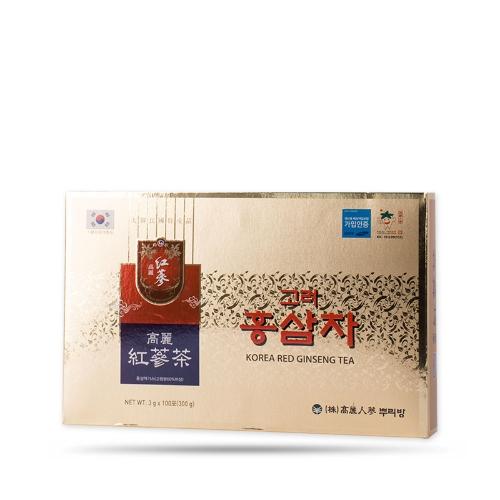 Buleebang - Trà Hồng Sâm Gingsen Tea Hàn Quốc  (3g x 100 gói)