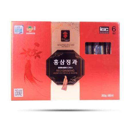 Sobaek - Hồng Sâm Nguyên Củ Tẩm Mật Ong 300gr