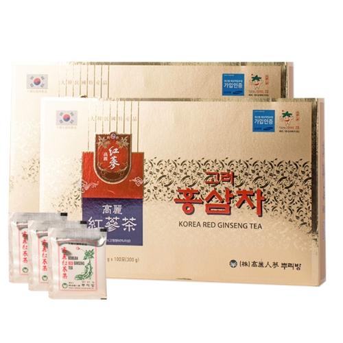 Buleebang -Combo 2 Trà Hồng Sâm Gingsen Tea Hàn Quốc  (3g x 100 gói/hộp)