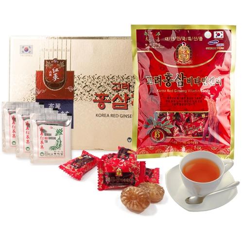 Combo Trà Hồng Sâm Buleebang (3g x 100 gói) +1 Kẹo Hồng Sâm Vitamin Dream (200g)