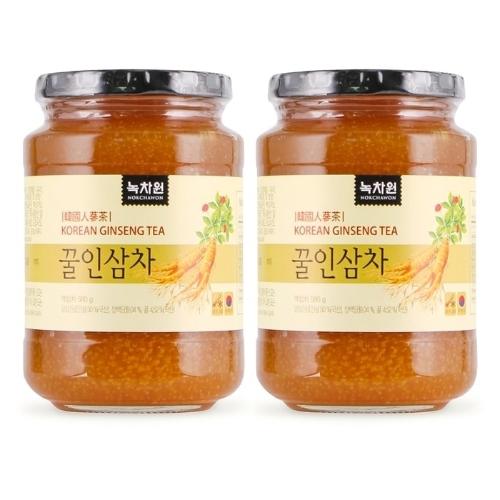 NOKCHAWON -Combo 02 hũ Trà Sâm Hàn Quốc 580g